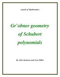 """Đề tài """"Gr¨obner geometry of Schubert polynomials  """""""