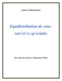 """Đề tài """" Equidistribution de sous-vari´et´es sp´eciales """""""