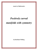 "Đề tài ""  Positively curved manifolds with symmetry """
