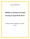 "Đề tài "" Stability of mixing and rapid mixing for hyperbolic flows """