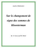 """Đề tài """" Sur le changement de signe des sommes de Kloosterman """""""