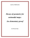 "Đề tài "" Decay of geometry for unimodal maps: An elementary proof """