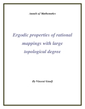 "Đề tài "" Ergodic properties of rational mappings with large topological degree """