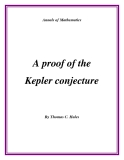 "Đề tài ""  A proof of the Kepler conjecture """