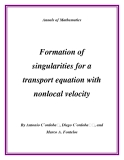 "Đề tài "" Formation of singularities for a transport equation with nonlocal velocity """