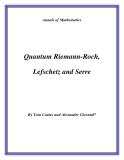 "Đề tài ""Quantum Riemann-Roch, Lefschetz and Serre """