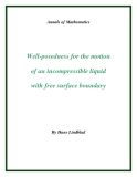 "Đề tài "" Well-posedness for the motion of an incompressible liquid with free surface boundary """