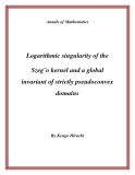 "Đề tài "" Logarithmic singularity of the Szeg¨o kernel and a global invariant of strictly pseudoconvex domains """