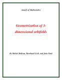 """Đề tài """"  Geometrization of 3dimensional orbifolds """""""