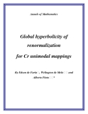 "Đề tài ""  Global hyperbolicity of renormalization for Cr unimodal mappings """
