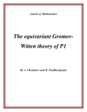 "Đề tài ""  The equivariant GromovWitten theory of P1 """