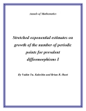 "Đề tài ""Stretched exponential estimates on growth of the number of periodic points for prevalent diffeomorphisms I """