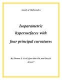 """Đề tài """"  Isoparametric hypersurfaces with four principal curvatures """""""