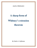 "Đề tài ""A sharp form of Whitney's extension theorem  """