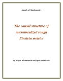 "Đề tài ""  The causal structure of microlocalized rough Einstein metrics """
