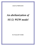 "Đề tài "" An abelianization of SU(2) WZW model """