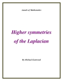 "Đề tài ""Higher symmetries of the Laplacian """