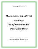 """Đề tài """"  Weak mixing for interval exchange transformations and translation flows """""""