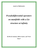 "Đề tài ""Pseudodifferential operators on manifolds with a Lie structure at infinity """