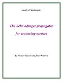 "Đề tài ""The Schr¨odinger propagator for scattering metrics """