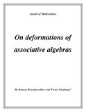 "Đề tài "" On deformations of associative algebras """