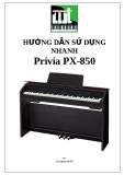 Hướng dẫn sử dụng nhanh piano PX850