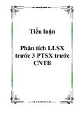 Tiểu luận Phân tích LLSX trước 3 PTSX trước CNTB