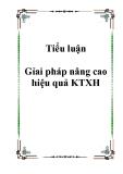Tiểu luận Gỉai pháp nâng cao hiệu quả KTXH