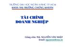 Tài chính doanh nghiệp - Ths Nguyễn Văn Nhật