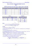 Bài tập  về Microsoft Excel