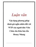 Luận văn: Vận dụng phương pháp đánh giá ngẫu nhiên đối với WTP của người dân Viên Chăn cho Khu bảo tồn Houay Nhang
