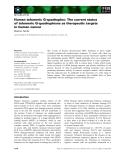 Báo cáo khoa học: Human telomeric G-quadruplex: The current status of telomeric G-quadruplexes as therapeutic targets in human cancer