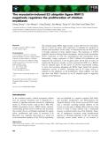 Báo cáo khoa học: The myostatin-induced E3 ubiquitin ligase RNF13 negatively regulates the proliferation of chicken myoblasts