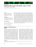 Báo cáo khoa học: Multidrug efflux pumps: drug binding – gates or cavity? Emily Crowley and Richard Callaghan