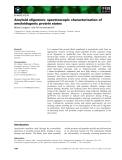 Báo cáo khoa học: Amyloid oligomers: spectroscopic characterization of amyloidogenic protein states