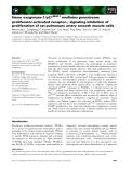 Báo cáo khoa học: Heme oxygenase-1 ⁄p21WAF1 mediates peroxisome proliferator-activated receptor-c signaling inhibition of proliferation of rat pulmonary artery smooth muscle cells