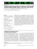 Báo cáo khoa học: Multidrug efflux pumps: Substrate selection in ATP-binding cassette multidrug efflux pumps – first come, first served?