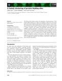 Báo cáo khoa học: A hybrid clustering of protein binding sites