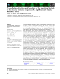 Báo cáo khoa học: Proteolytic activation and function of the cytokine Spatzle in the innate immune response of a lepidopteran insect, Manduca sexta