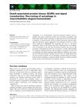 Báo cáo khoa học:  Death-associated protein kinase (DAPK) and signal transduction: fine-tuning of autophagy in Caenorhabditis elegans homeostasis