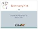 Recovery Net Final