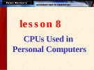 CPUs Used in Personal Computers