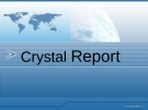 Crystal Report