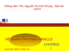 Hệ quản trị CSDL ORACLE - Nguyễn Thị Kim Phụng