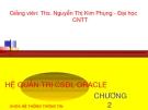 Hệ quản trị CDSL ORACLE - Chương 2: Ngôn ngữ thủ tục PL/SQL