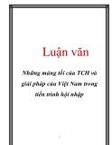 Luận văn: Những mảng tối của TCH và giải pháp của Việt Nam trong tiến trình hội nhập