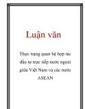 Luận văn: Thực trạng quan hệ hợp tác đầu tư trực tiếp nước ngoài giữa Việt Nam và các nước ASEAN