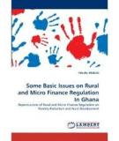 Rural and Micro Finance Regulation in Ghana:   Implications for Development and Performance of the Industry
