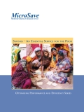 SAVING - AN ESSENTIAL SERVICE FOR THE POOR: OPTIMISING PERFORMANCE AND EFFICIENCY SERIES