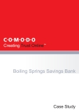 Boiling Springs Savings Bank - New Technology at work: SVT (See, Verify, Trust)